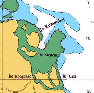 official hydrographic chart new caledonia isle of pines